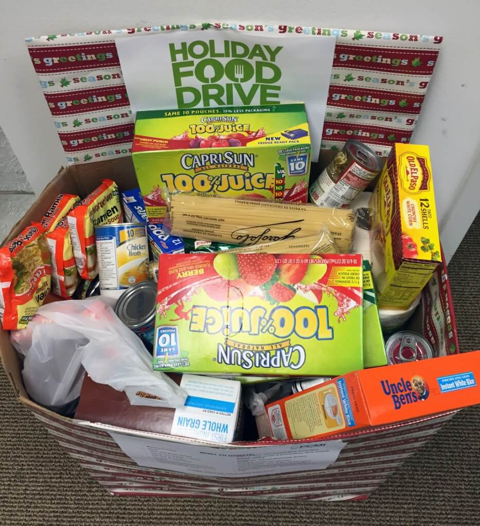 PCMI Holiday Food Drive 2015 – Results