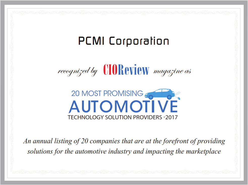 PCMI CIOReview Certificate Awards