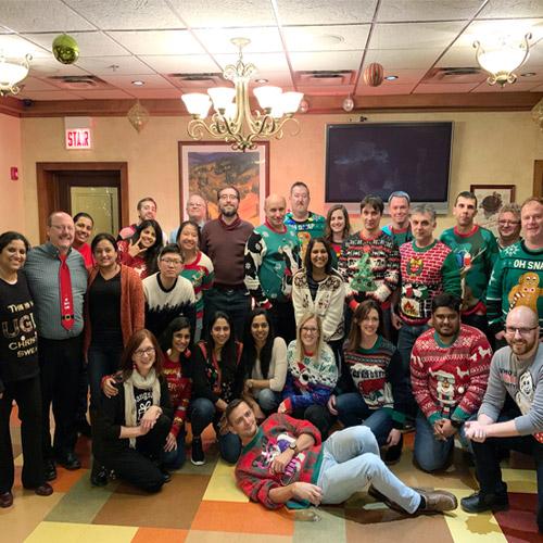 holiday team photo
