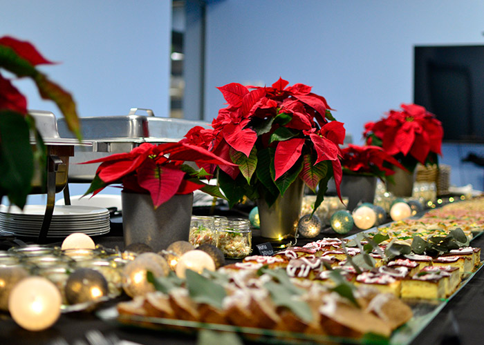 decorated holiday table
