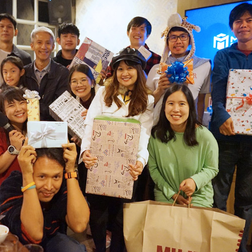 Thailand team with gifts 2020