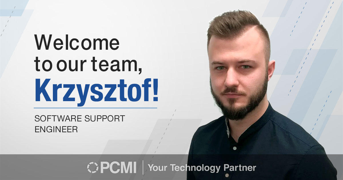 welcome to our team, Krzysztof!