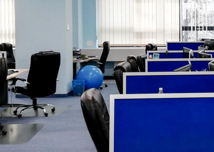 Poland office, exercise ball