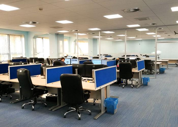 Poland office, open layout