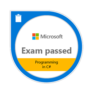 exam 70-483 badge