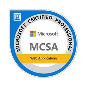MCSA Web Applications badge