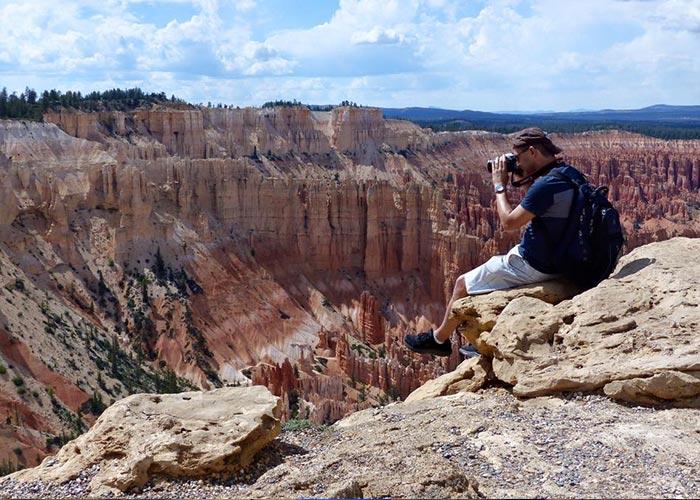 Greg taking photos