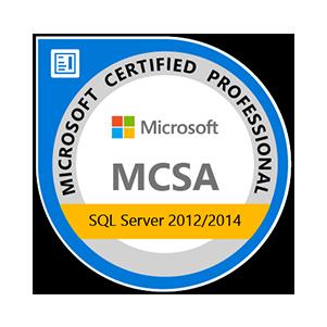 MSCA SQL server 2012-2014 badge