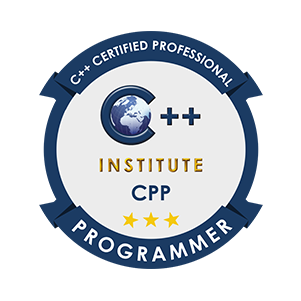C++ certified professional programmer badge