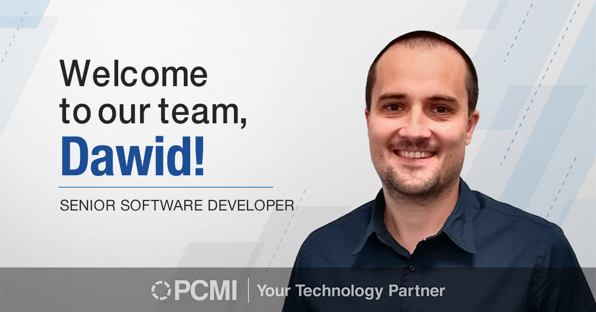 Welcome to our team, Dawid