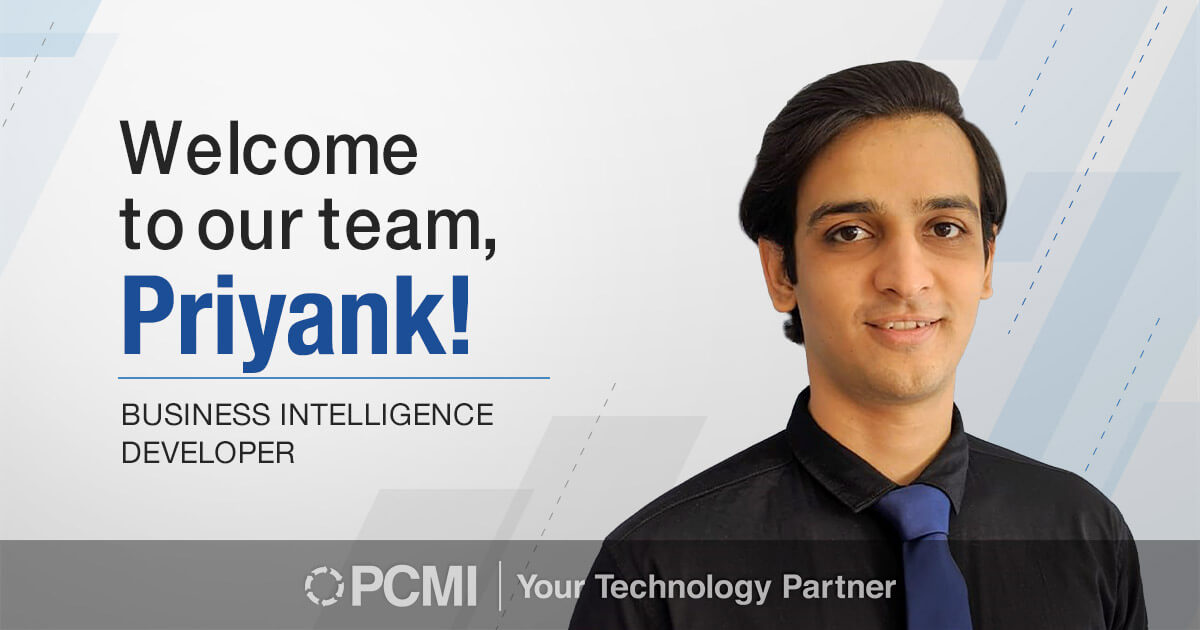 Welcome to our team, Priyank