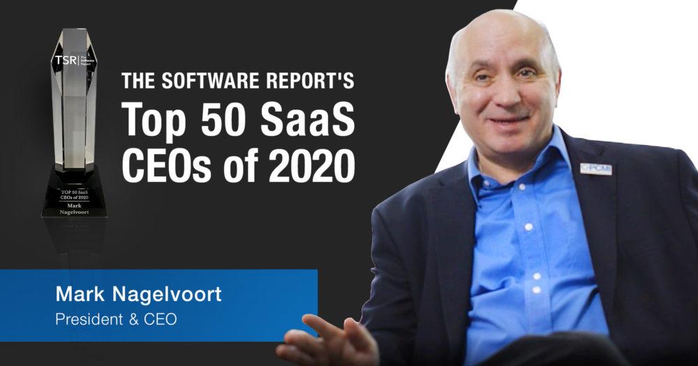 Mark named top 50 SaaS CEOs of 2020