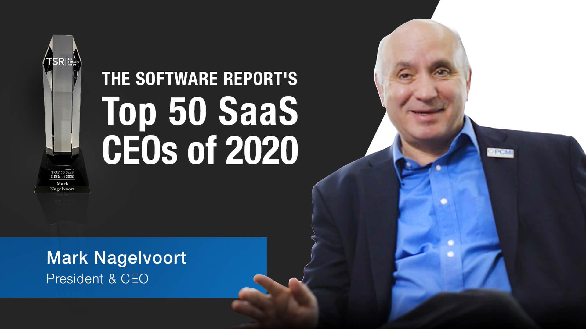 Mark named top 50 SaaS CEOs of 2020