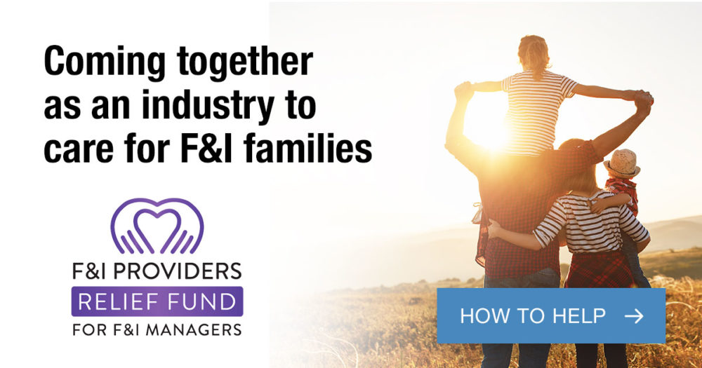 F&I Providers Relief Fund For F&I Managers - how to help