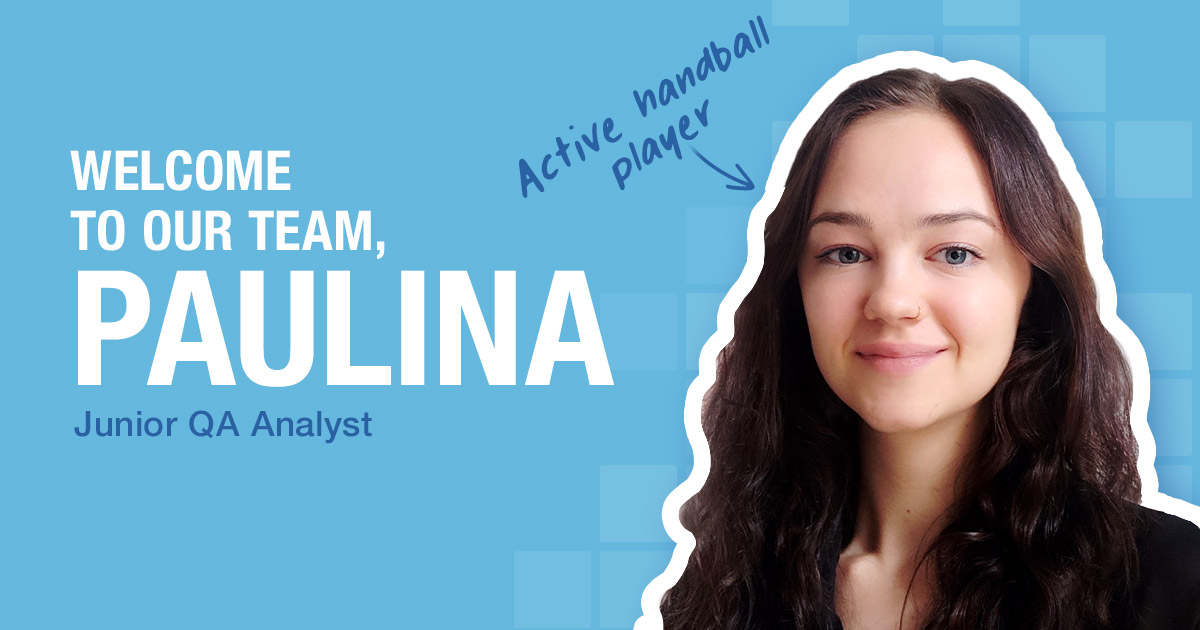Welcome to our team, Paulina Reichel
