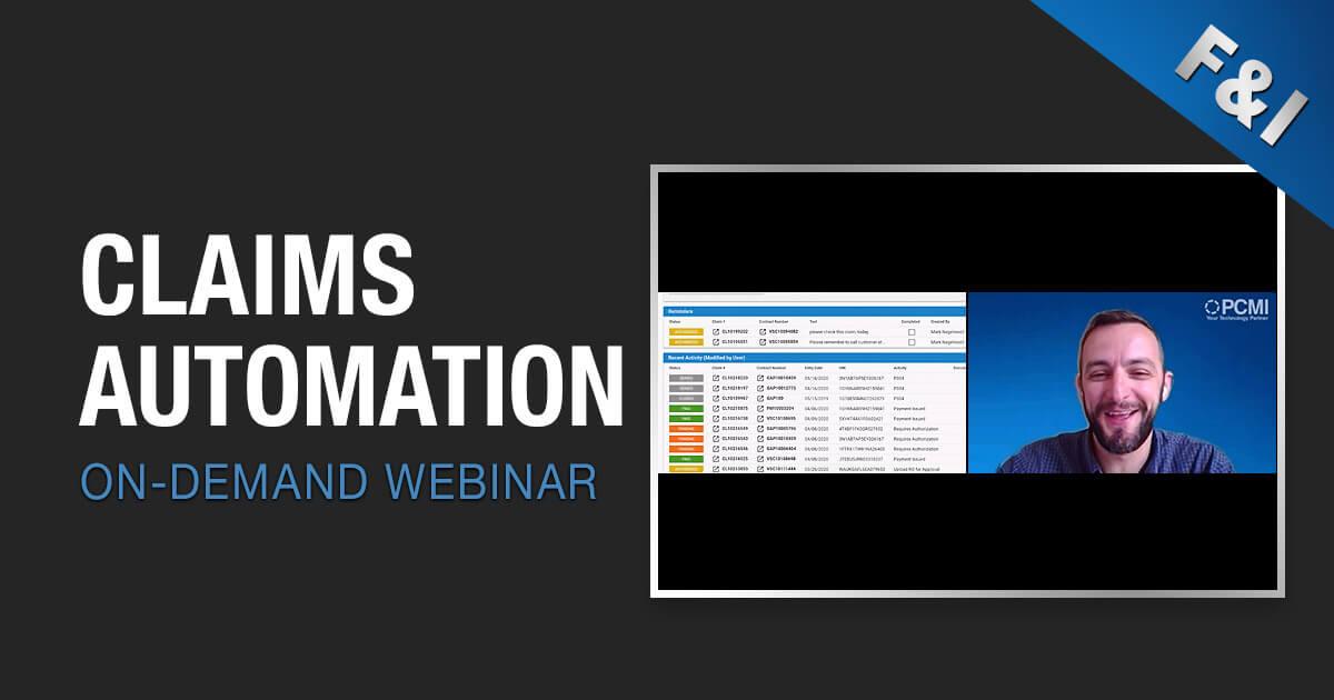 On-Demand Webinar - Claims Automation