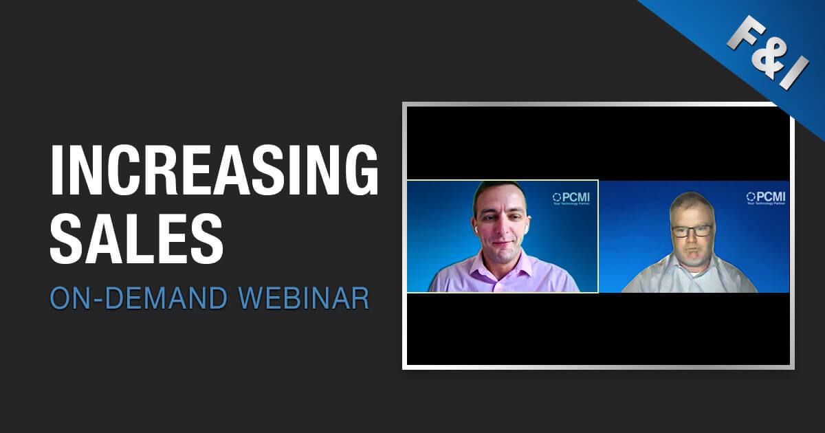 On-Demand Webinar - Increasing Sales