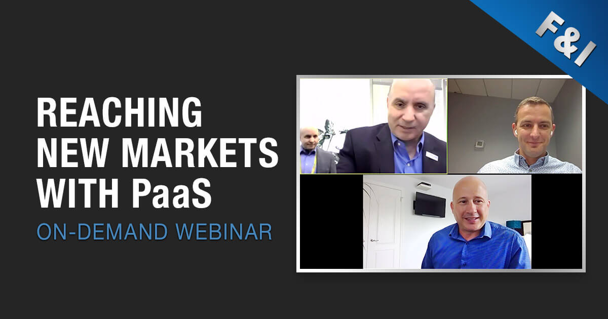 On-Demand Webinar - Reaching New Markets with PaaS