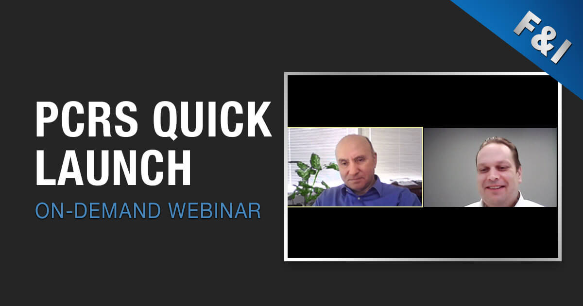 On-Demand Webinar - PCRS Quick Launch