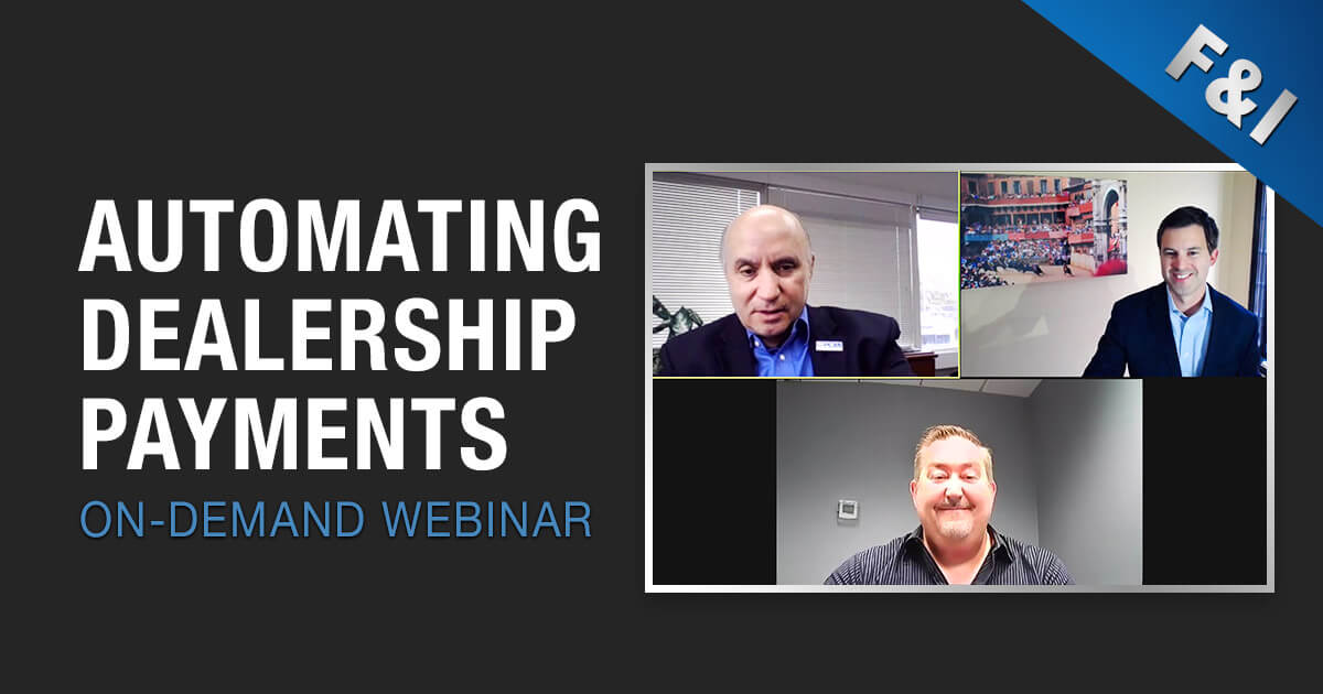 On-Demand Webinar - Automating Dealership Payments