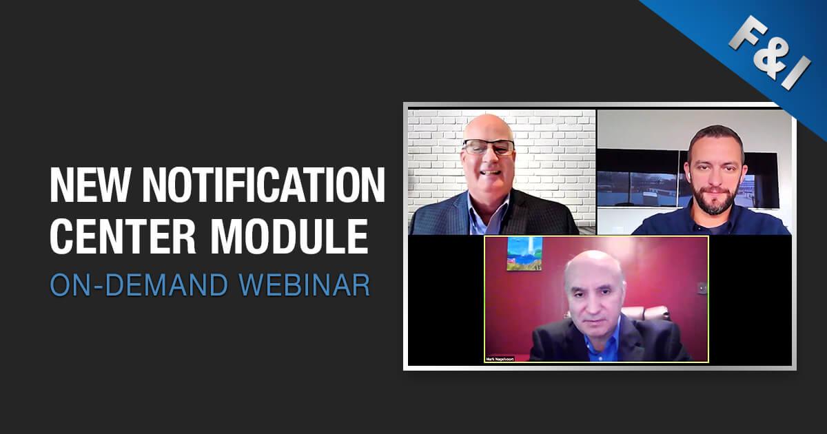 On-Demand Webinar - New Notification Center Module