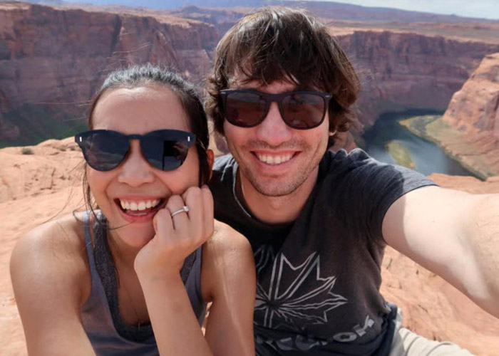 Dan Wilson and Wife hiking in the desert