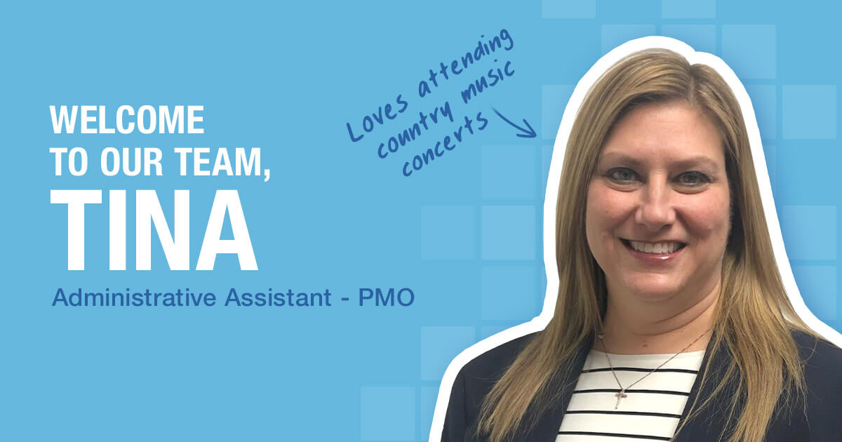 Welcome to our team, Tina!