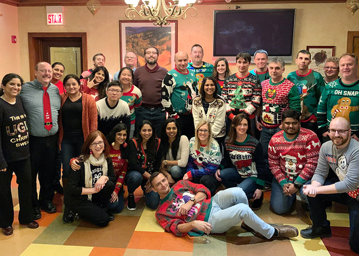 Office Holiday Party group photo