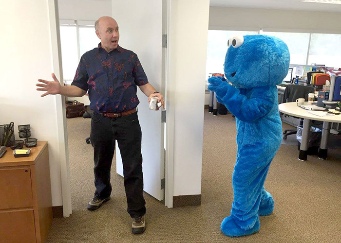 PCMI CEO and Cookie Monster