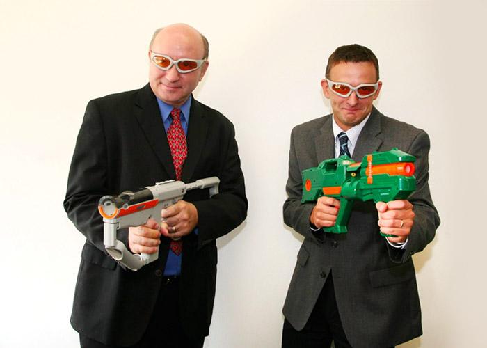 Mark and Greg having fun