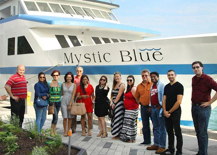 Mystic Blue company boat tour