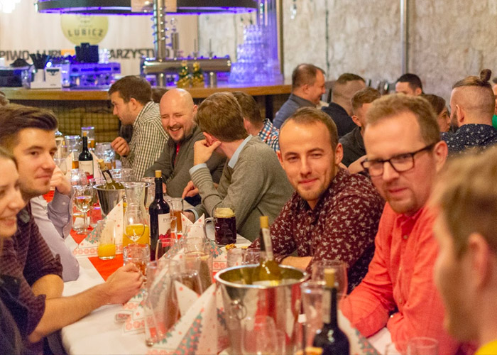 Poland team holiday dinner