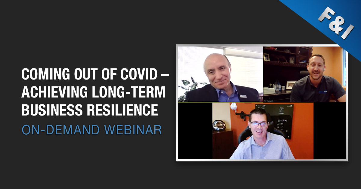 Webinar - coming out of covid and achieving long-term business resilience