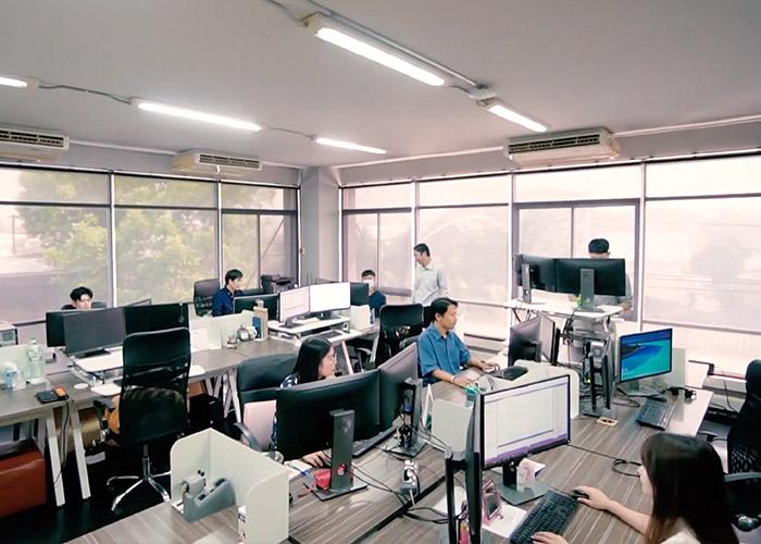 Thailand team working in office