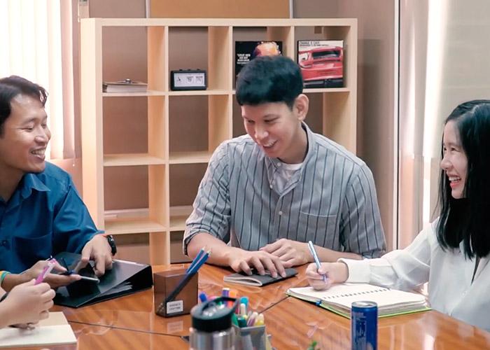 Thailand team in a meeting