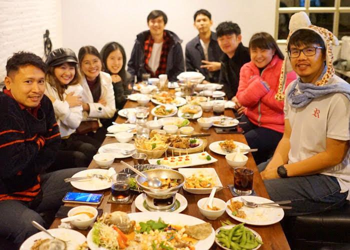 Thailand team new years dinner