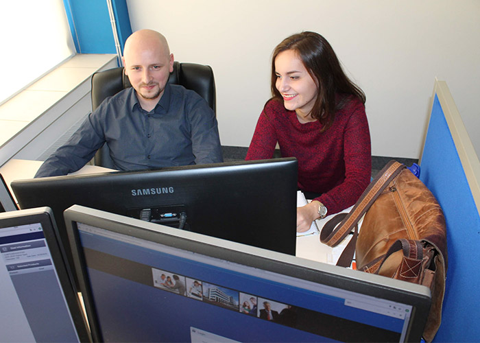 Poland team Olena and Pete working